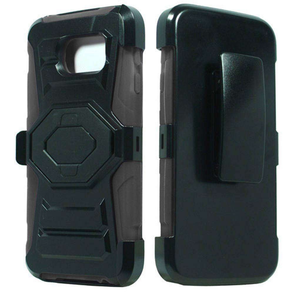 - Tough 3-in-1 Rugged Case with Holster, Black/Gray for Galaxy S6