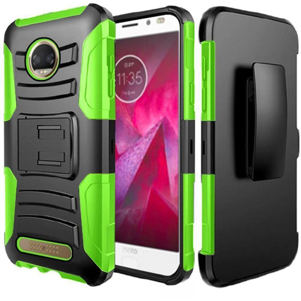 - My.Carbon 3-in-1 Rugged Case with Holster, Black/Neon Green