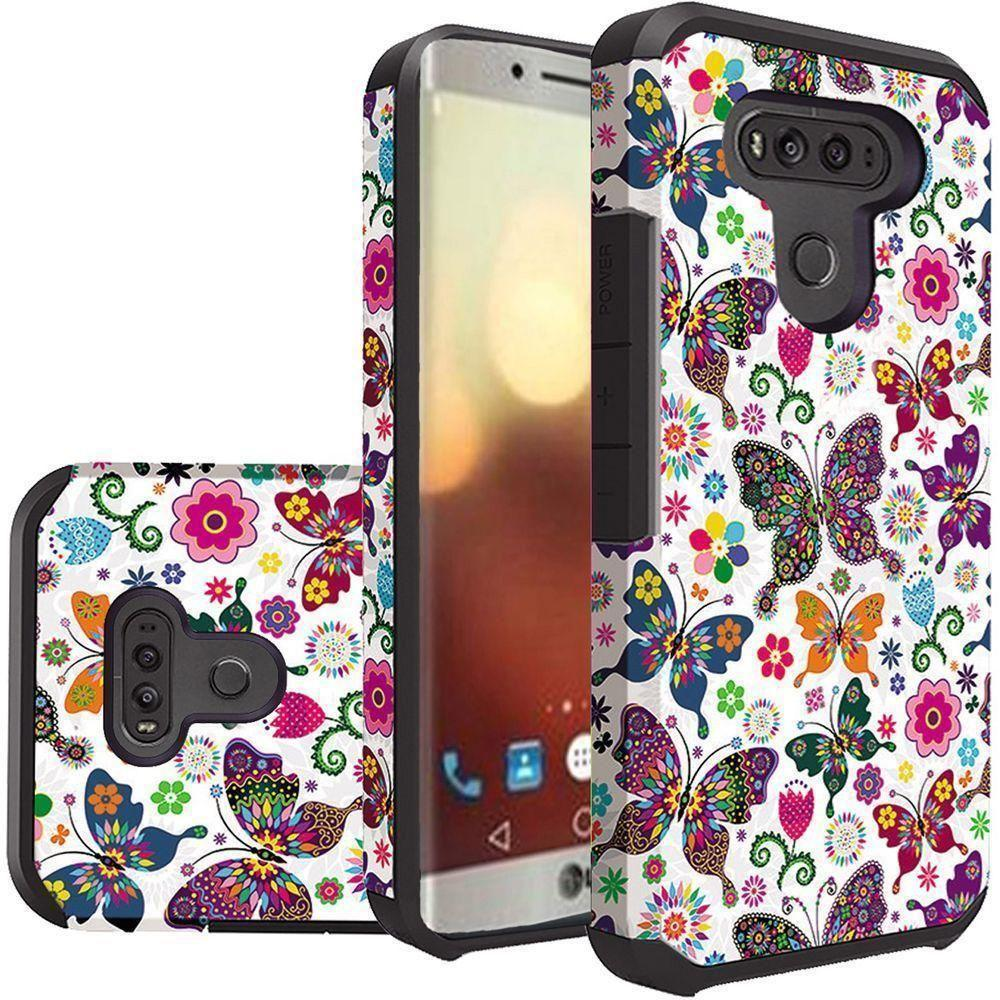 - Rainbow Butterflies Design Slim Hybrid Rugged Case, Multi-Color