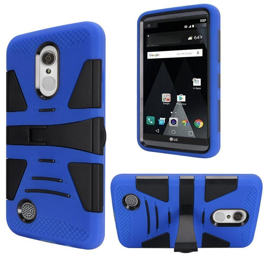 - V2 Armor Guard Rugged Case with Kickstand, Blue/Black