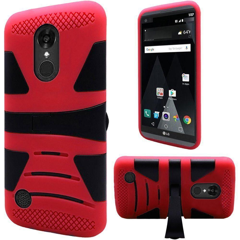 - V2 Armor Guard Rugged Case with Kickstand, Red/Black