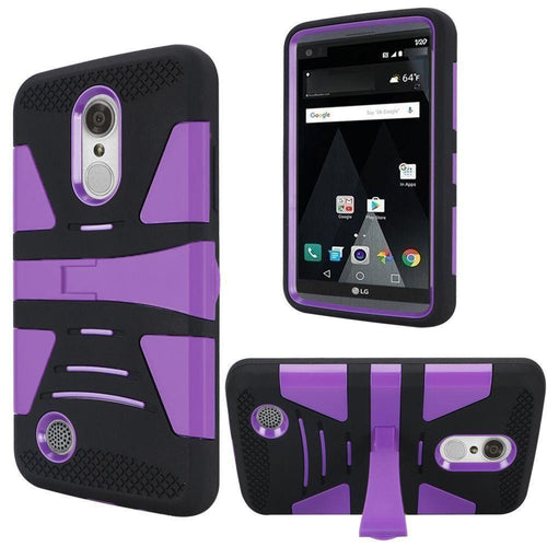 Phone Cases & Covers - V2 Armor Guard Rugged Case with Kickstand, Black/Purple