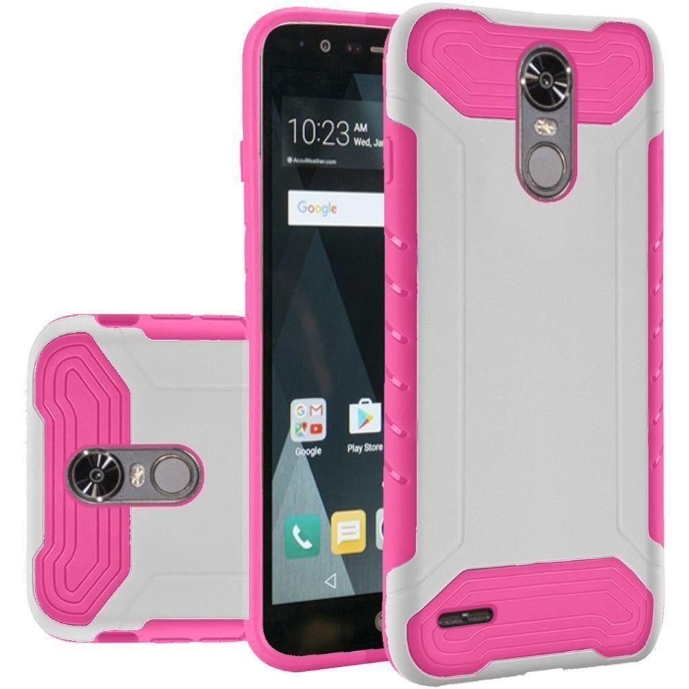 - Quantum Dual Layer Rugged Case, White/Pink