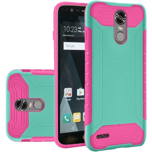 Phone Cases & Covers - Quantum Dual Layer Rugged Case, Teal/Hot Pink