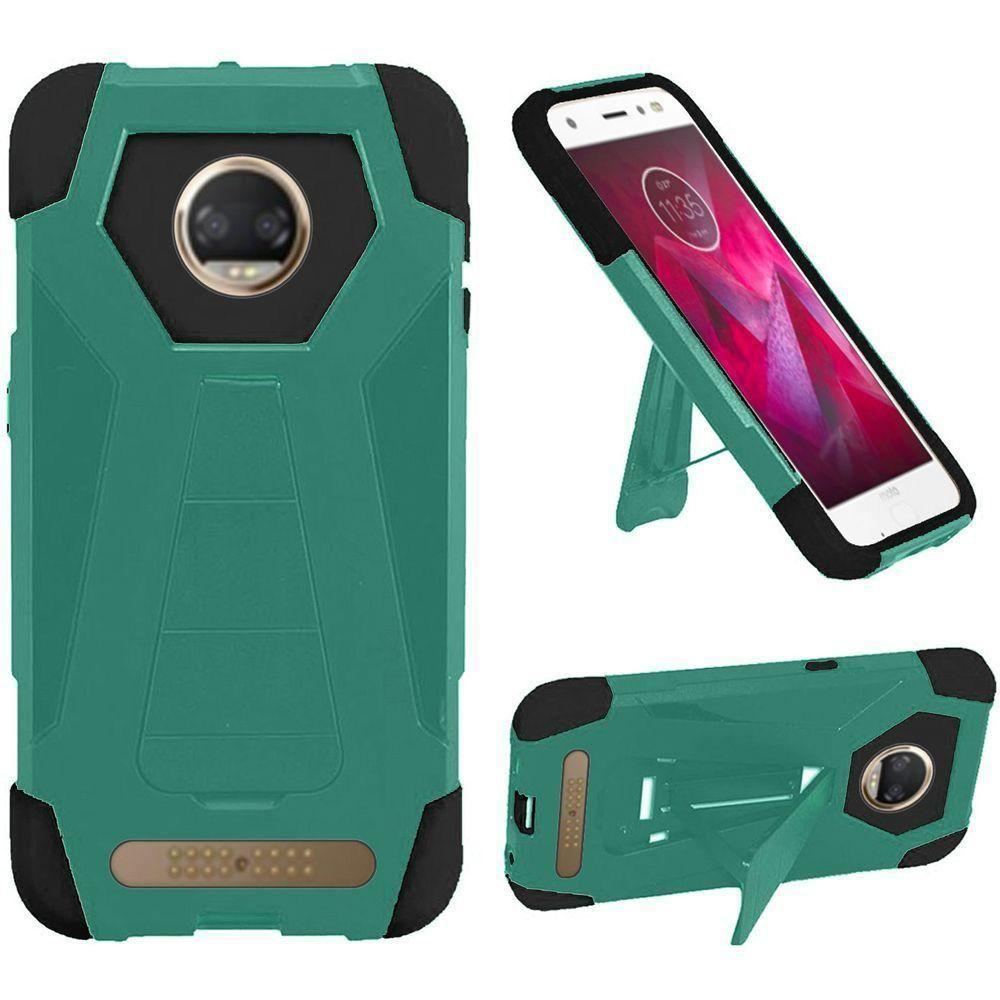 - Mighty Dual Layer Rugged Case with Kickstand, Teal/Black