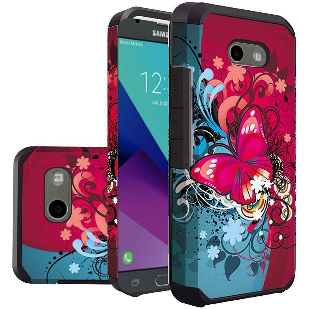 - Butterfly Harmony Design Slim Hybrid Rugged Case, Multi-Color