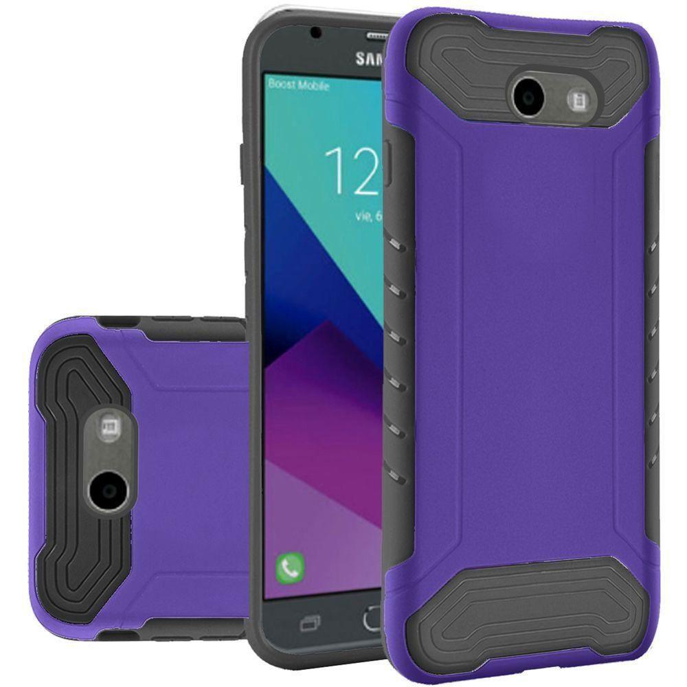 - Quantum Dual Layer Rugged Case, Purple/Black