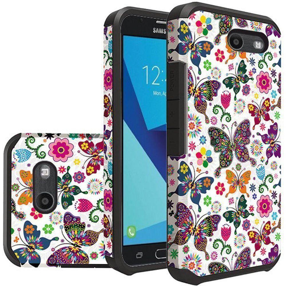 Accessories - Rainbow Butterflies Design Slim Hybrid Rugged Case, Multi-Color