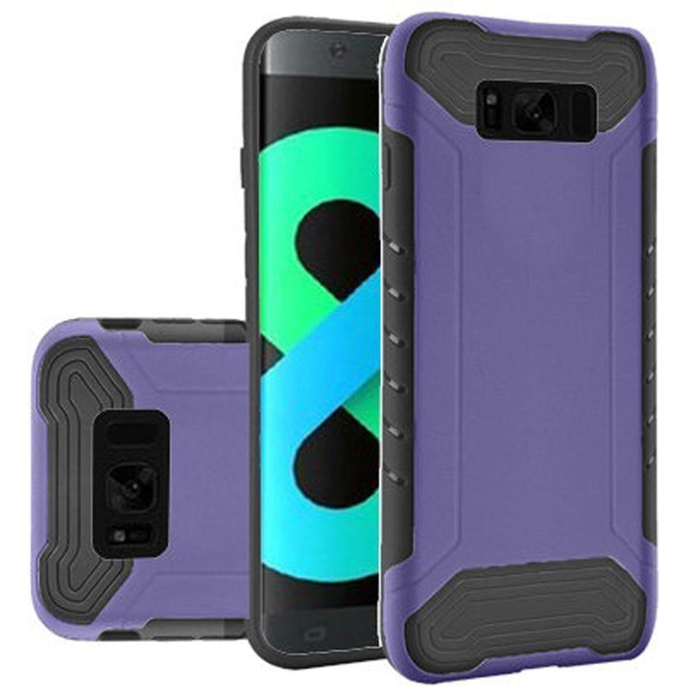 - Quantum Dual Layer Rugged Case, Purple/Black for Galaxy S8 Plus