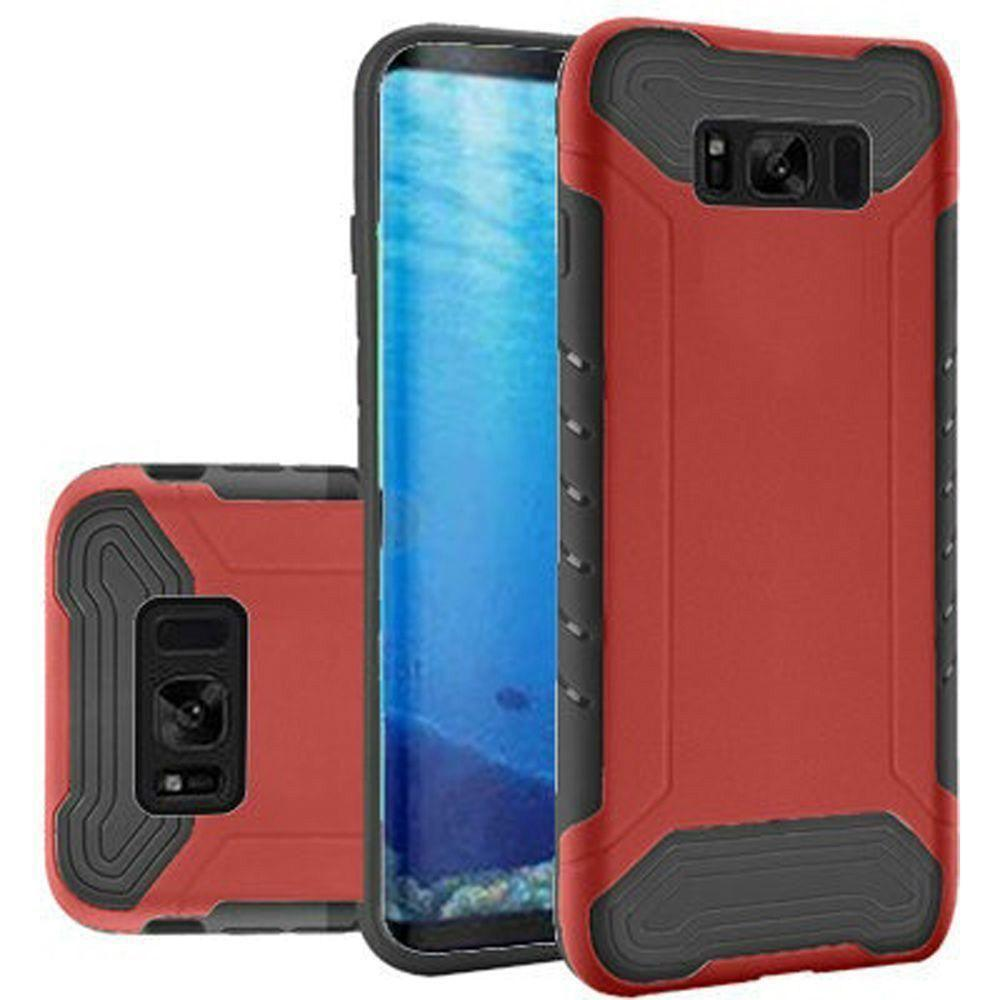 - Quantum Dual Layer Rugged Case, Red/Black for Samsung Galaxy S8