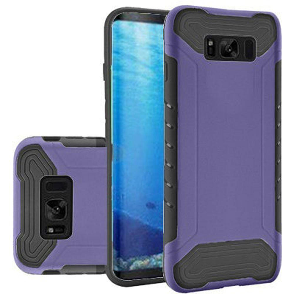 - Quantum Dual Layer Rugged Case, Purple/Black for Samsung Galaxy S8