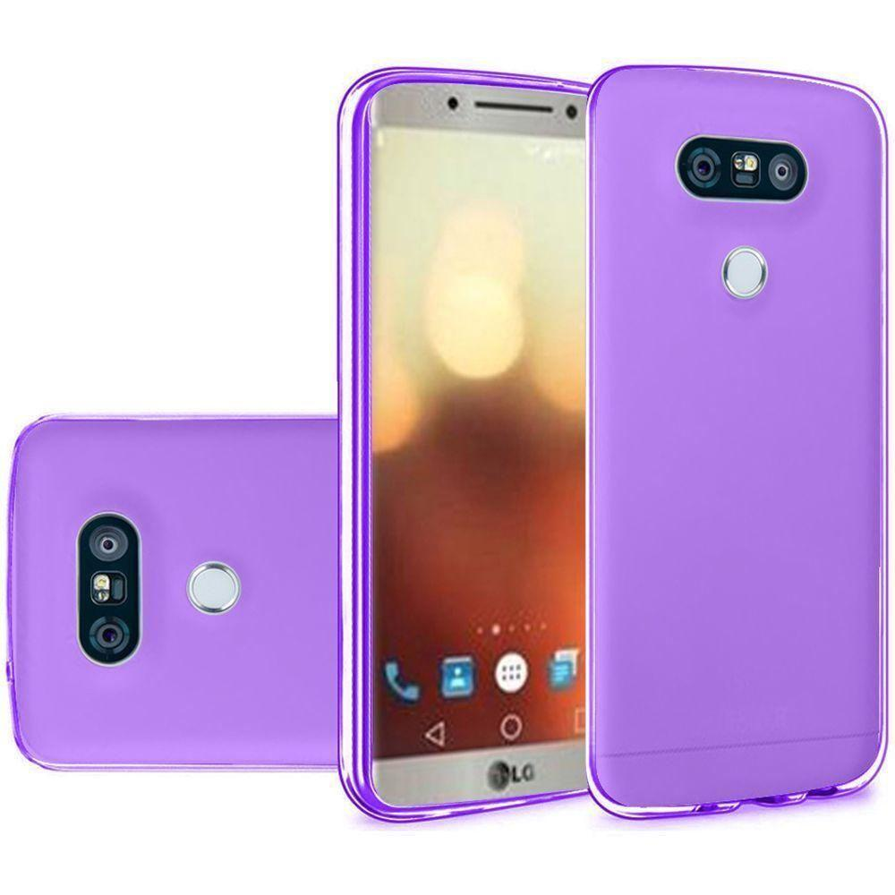 - Frosted TPU Case, Purple