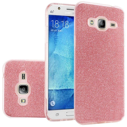 Samsung Galaxy J7 2015 - TPU Glitter Case, Red