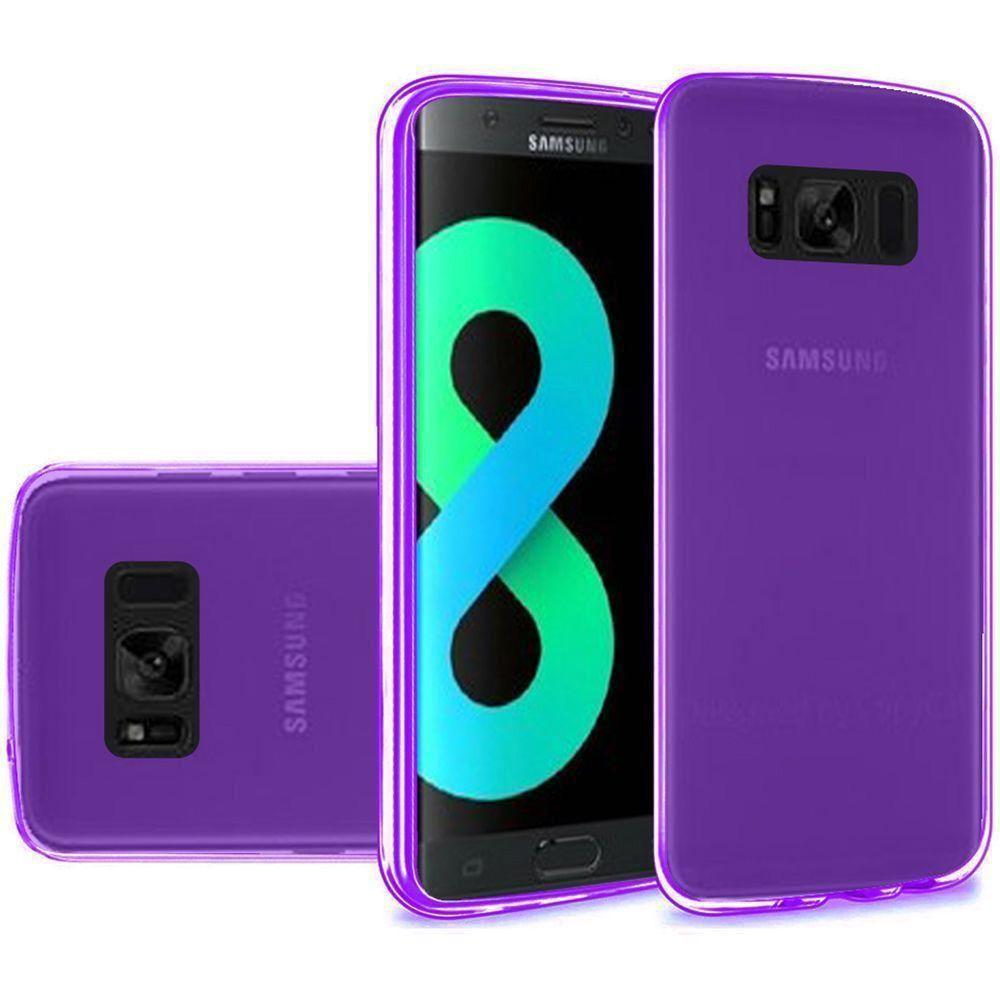 - Frosted TPU Case, Purple for Galaxy S8 Plus