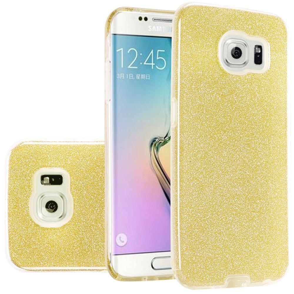 - TPU Glitter Case, Gold for Galaxy S6