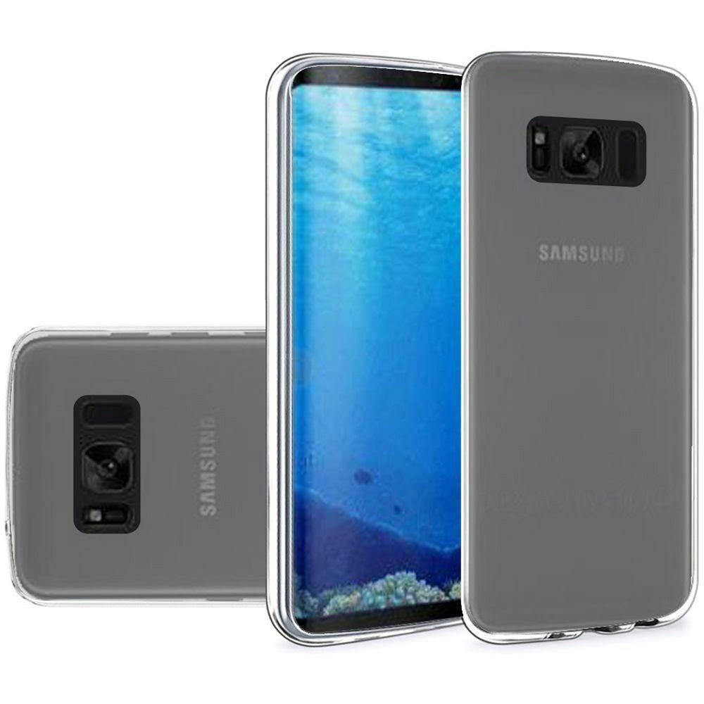 - Frosted TPU Case, Clear for Samsung Galaxy S8