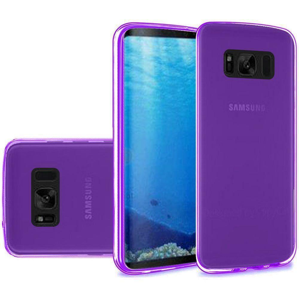 - Frosted TPU Case, Purple for Samsung Galaxy S8