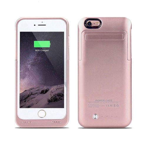 Apple Iphone 6s Plus - External Battery Backup Power Case with Kickstand (3500mAh), Rose Gold for Apple iPhone 6 Plus/iPhone 6s Plus