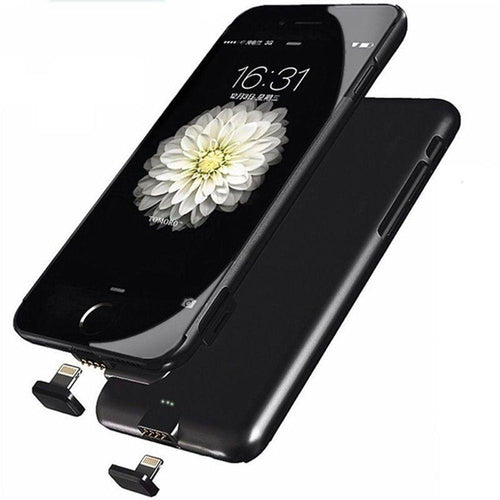 Apple Iphone 7 - Ultra Slim External Battery Backup Power Case 1500mah, Black