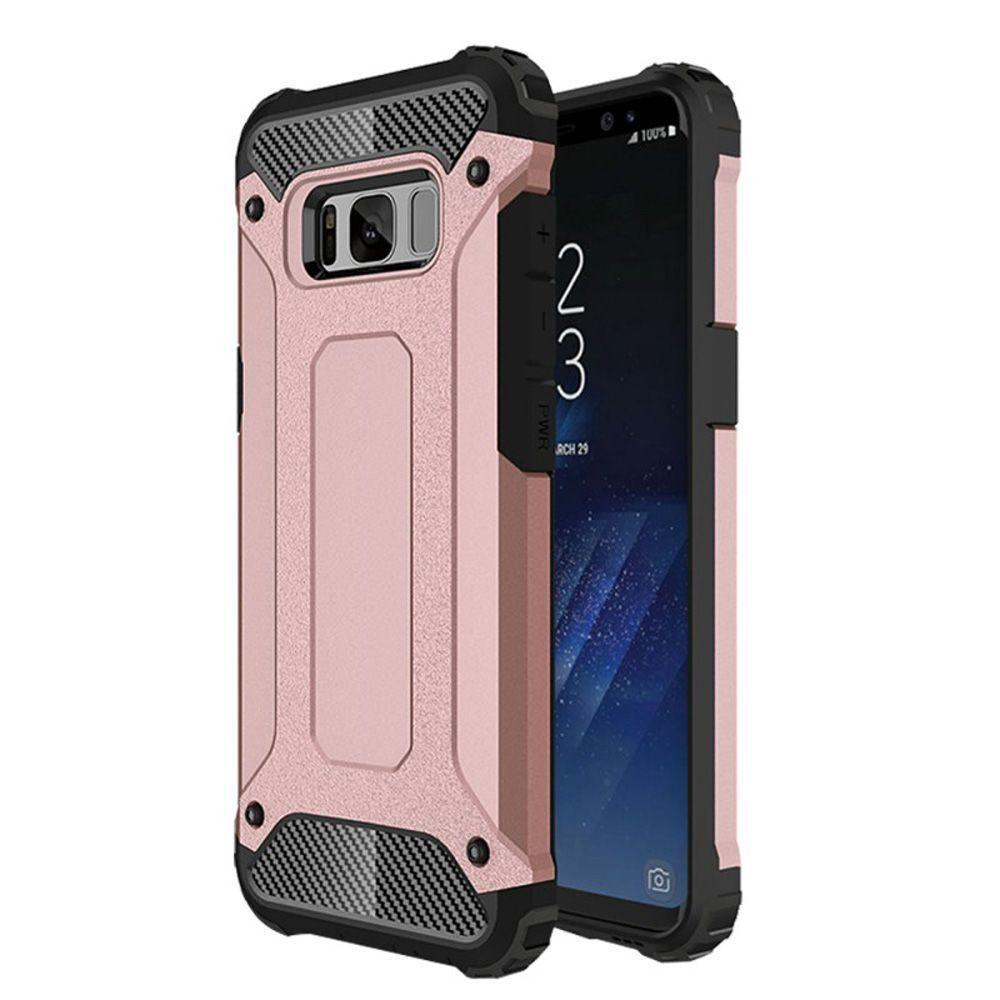 - Carbon fiber design Shockproof Armor Rugged case, Rose Gold/Black for Samsung Galaxy S8