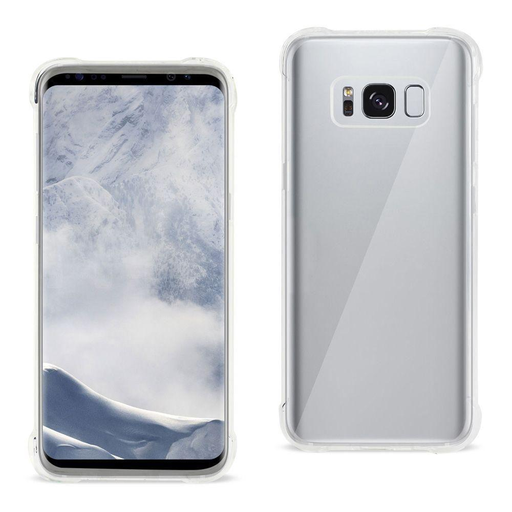 - Bumper Case with Air Cushion Shock Absorption, Clear for Galaxy S8 Plus