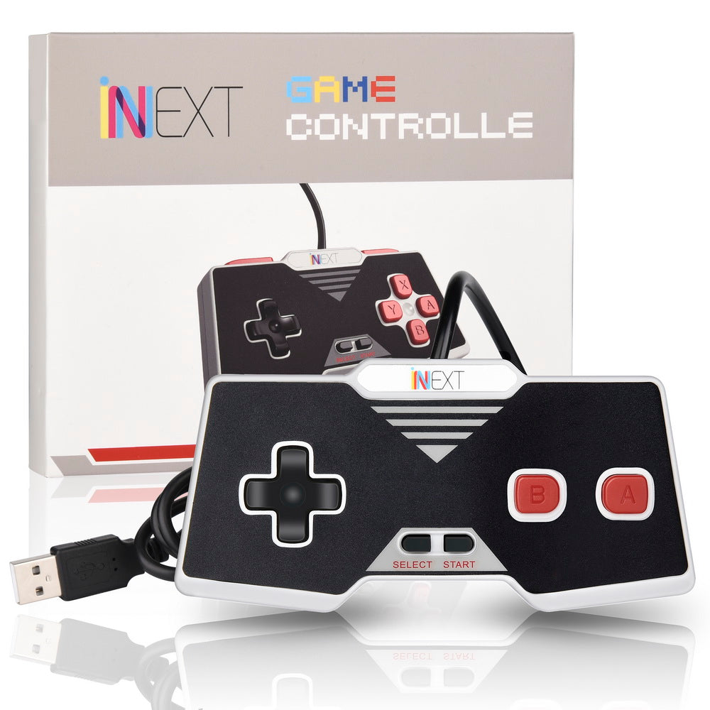 USB Famicom Controller Gamepad, Red/Black