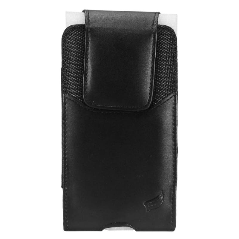 cheap for discount b7675 a57ed Vertical Faux Leather Carrying Phone Pouch Case, Black