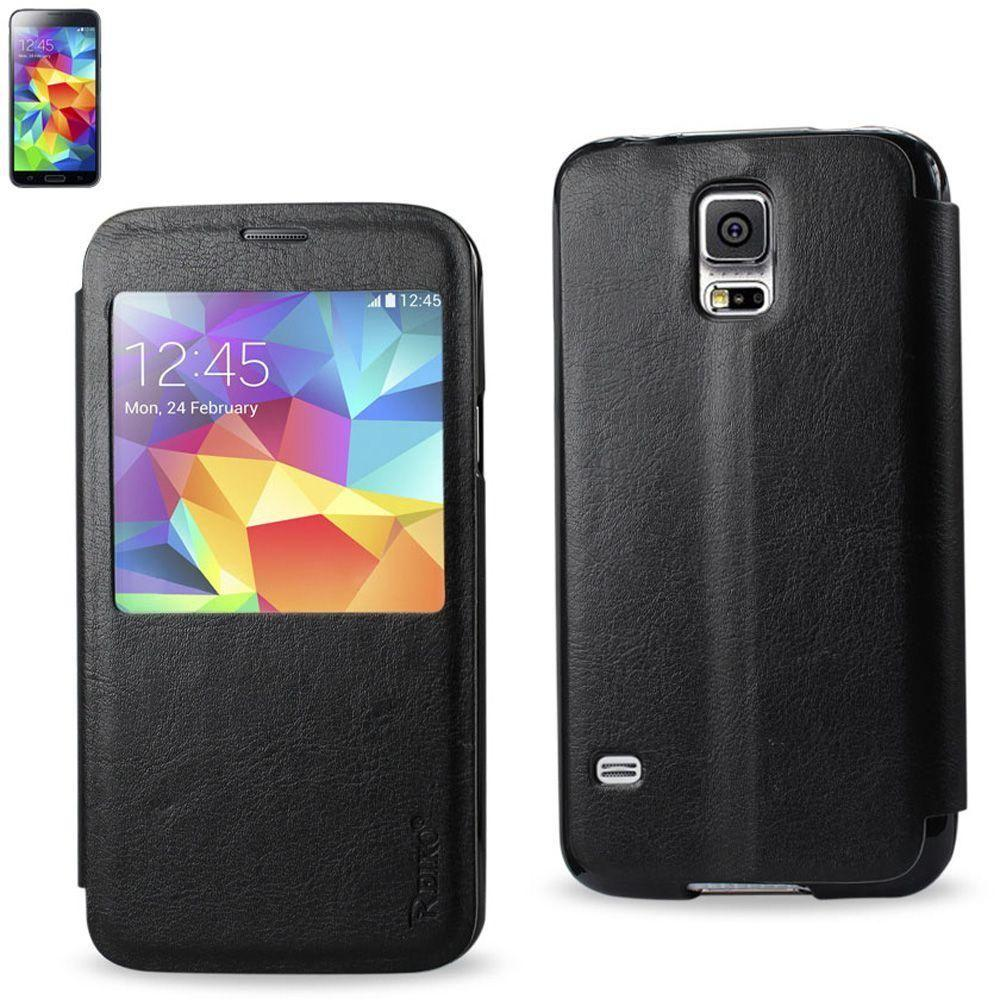 - Open View Flip Case, Black for Samsung Galaxy S5