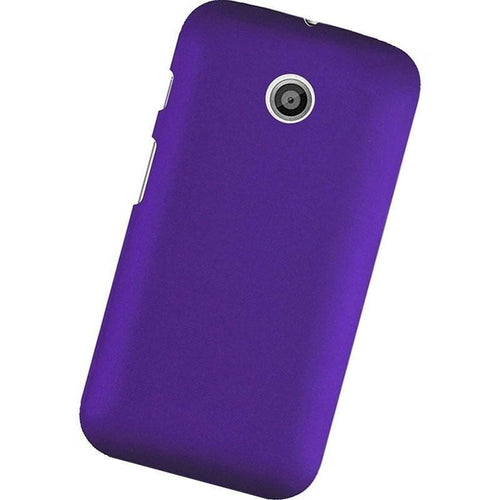 Motorola Moto E - Slim Fit Hard Plastic Case, Purple