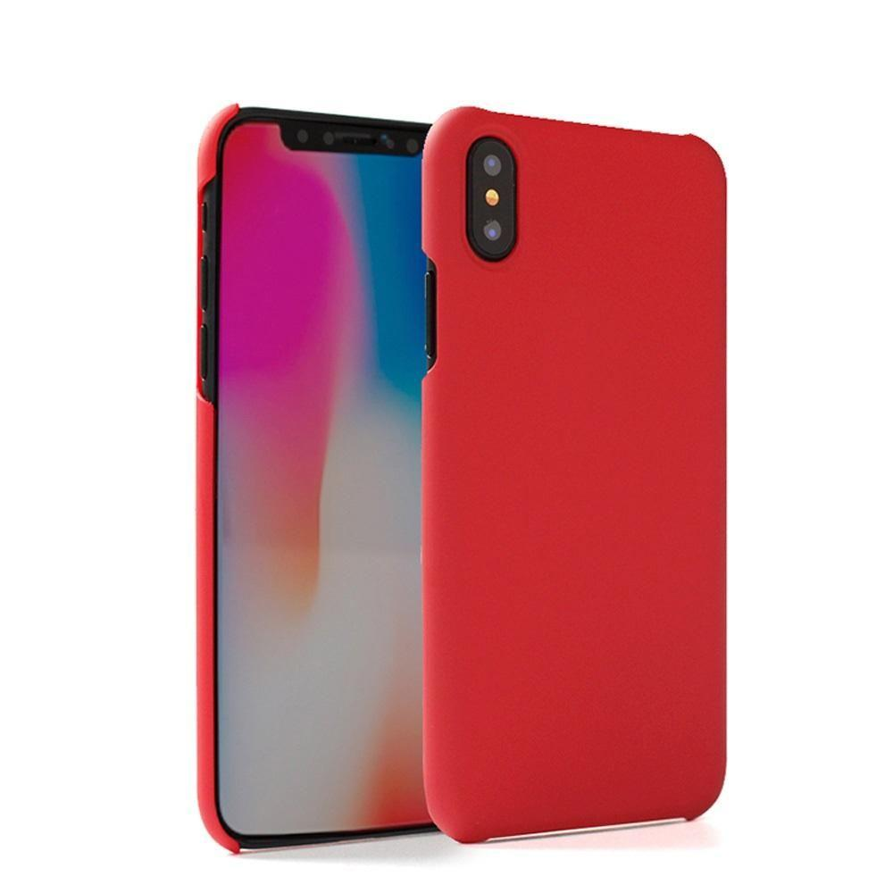 - Ultra Slim Fit Hard Plastic Case, Red for Apple iPhone X