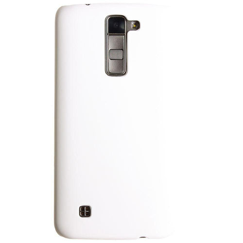 Lg K7 - Ultra Slim Fit Hard Plastic Case, White
