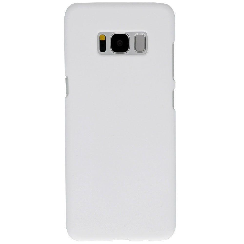 - Ultra Slim Fit Hard Plastic Case, White for Galaxy S8 Plus