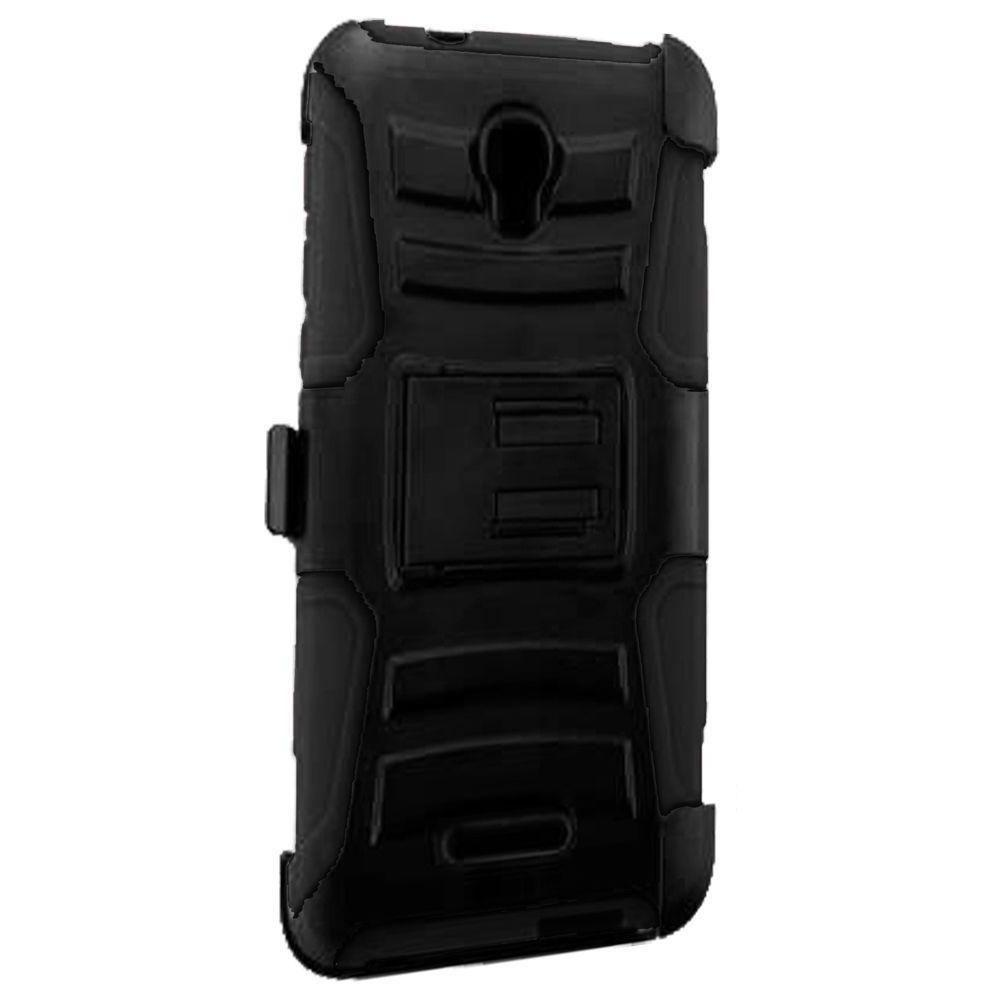 - My.Carbon 3-in-1 Rugged Case with Holster, Black