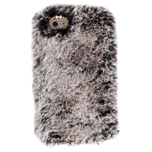 Apple Iphone 6 - Soft Plush Faux Fur Phone Case, Gray for Apple iPhone 6/iPhone 6s