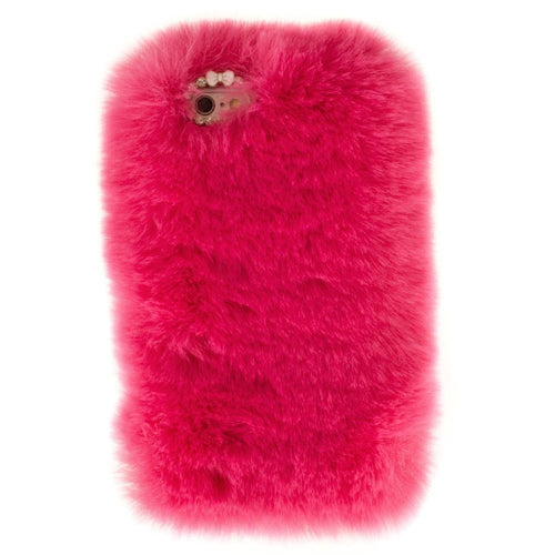 Apple Iphone 6 - Soft Plush Faux Fur Phone Case, Fuchsia for Apple iPhone 6/iPhone 6s