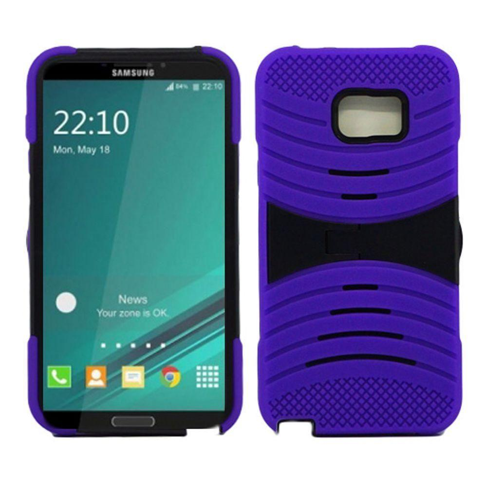 - Armor Guard Rugged Case with Kickstand, Purple/Black for Samsung Galaxy Note 5