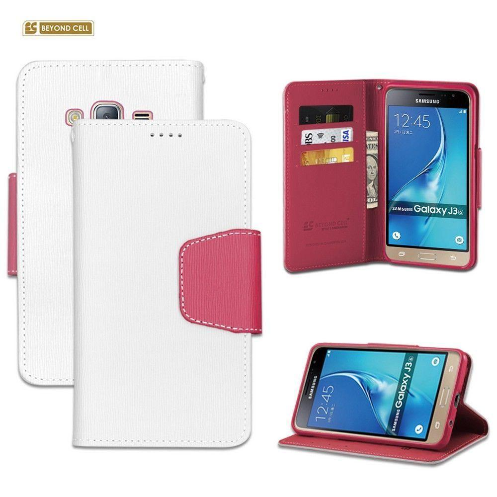 - Infolio Leather Folding Wallet Phone Case, White