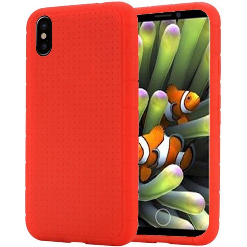 cheap for discount c18f8 9ee33 Apple iPhone X Rugged Silicone Case, Red