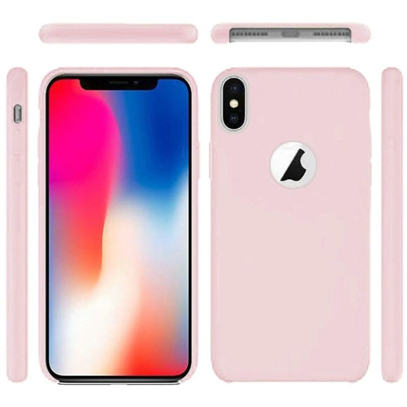Premium Series Soft Rubberized Fitted Protective Cover Case, Baby Pink for iPhone X/XS