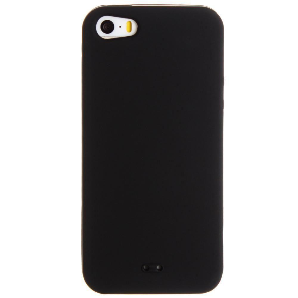 - Silicone Case, Black for Apple iPhone 5/iPhone 5s/iPhone SE