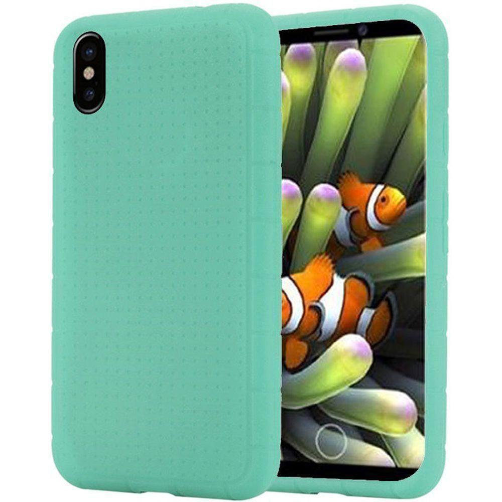 - Silicone Case, Teal for Apple iPhone X