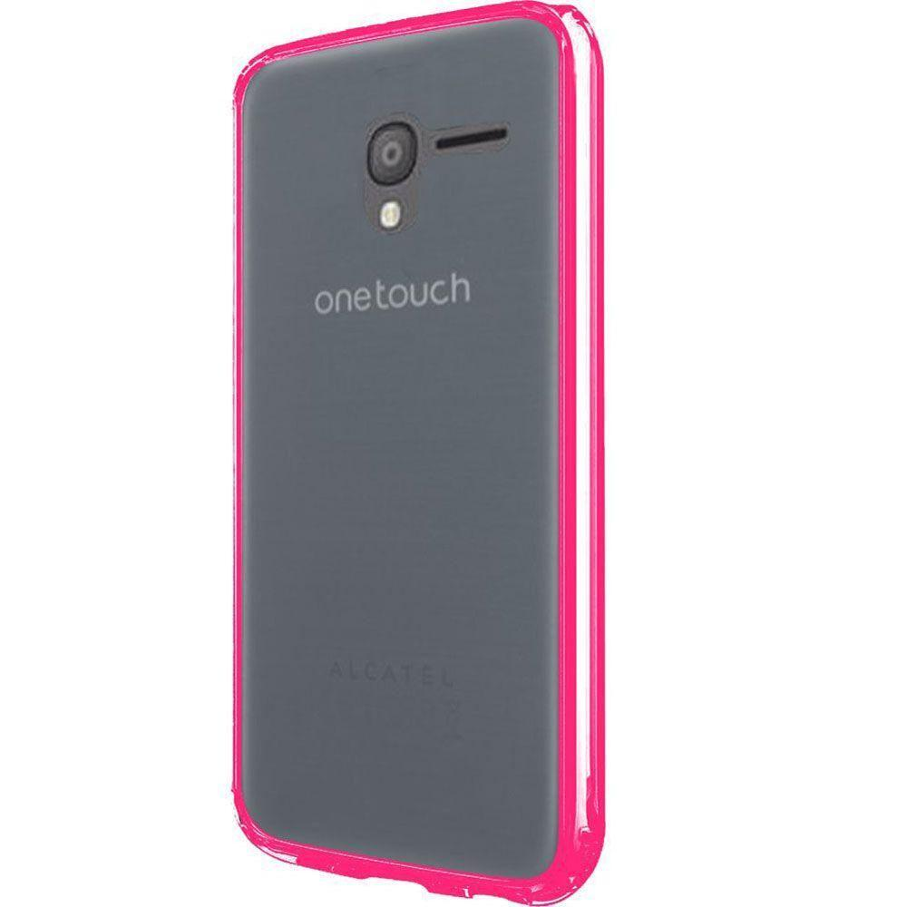 - Hybrid Clear Fusion Rugged Case, Clear/Hot Pink