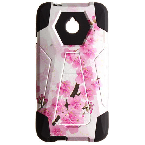 Other Brands Alcatel Acquire Streek - Cherry Blossoms Mighty Dual Layer Rugged Case, Pink/White