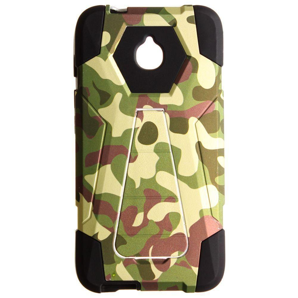 - Camo Mighty Dual Layer Rugged Case, Dark Green/Black