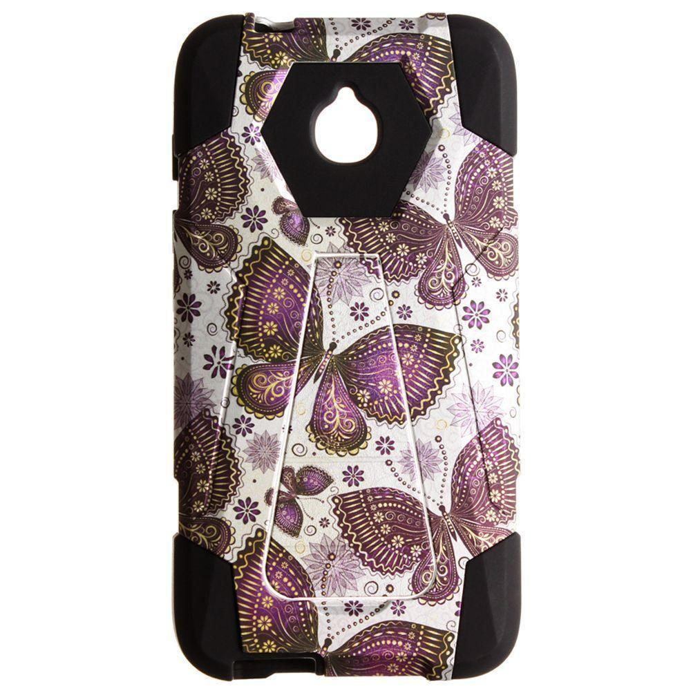 - Paisley Butterflies Mighty Dual Layer Rugged Case, Purple