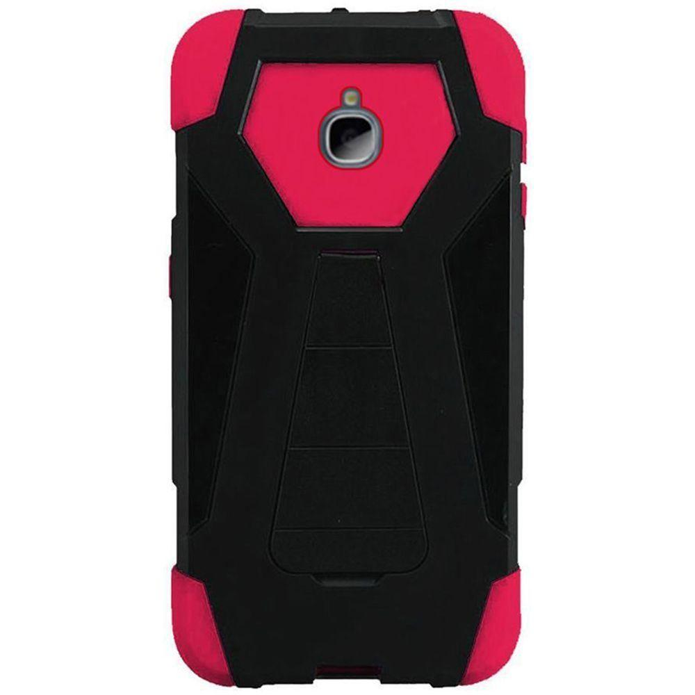 - Mighty Dual Layer Rugged Case, Black/Hot Pink