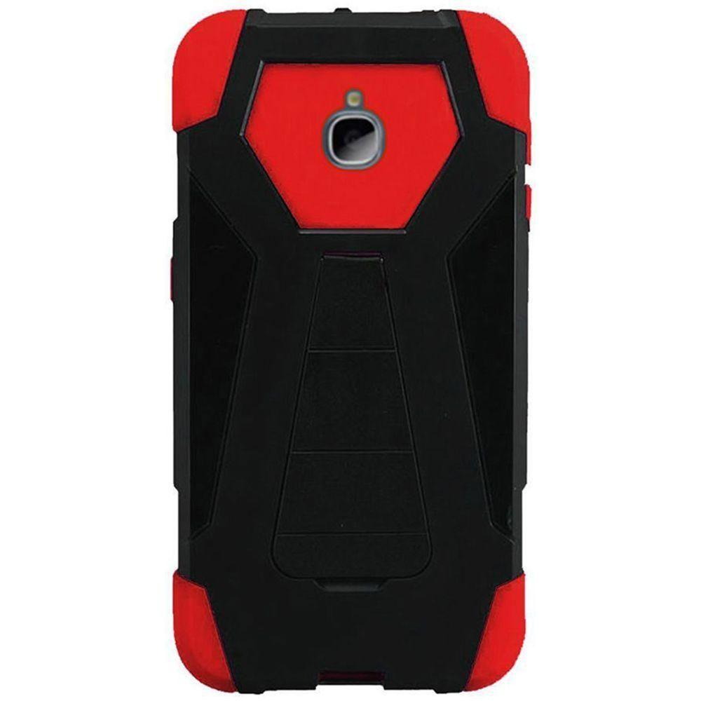 - Mighty Dual Layer Rugged Case, Black/Red