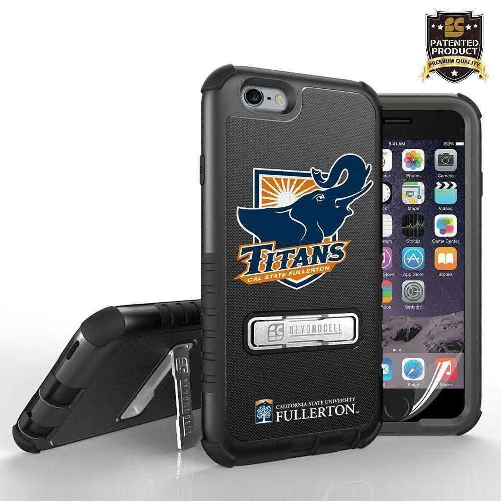 - Licensed Cal State Fullerton Tri Shield Rugged Case with Kickstand, Mascot Logo for Apple iPhone 6 Plus/iPhone 6s Plus