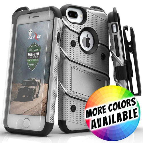 Apple Iphone 8 Plus - Bolt Heavy-Duty Rugged Case, Holster and Screen Combo, Gray/Black for Apple iPhone 7 Plus/iPhone 8 Plus