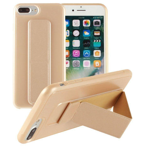 Apple Iphone 8 Plus - Hard frosted slim case with built in kickstand, Gold for Apple iPhone 7 Plus/iPhone 8 Plus